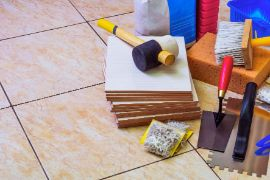 series of tools used for tile installation in dandenong