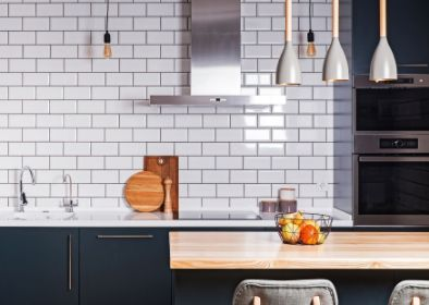 contemporary white kitchen tiling in dandenong