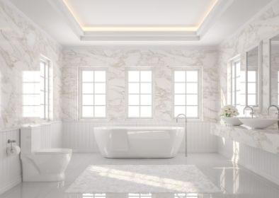 beautiful white bathroom tiling solution in dandenong
